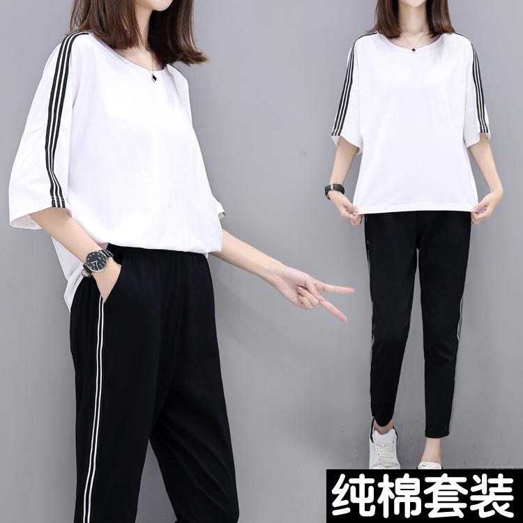 2012新品夏装韩版夏短袖女装裙子时尚服 休闲运动套装两件宽松