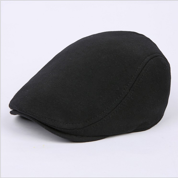 Korean version cotton leisure hat pure color naked men and women forward cap outdoor fashion Beret star hat