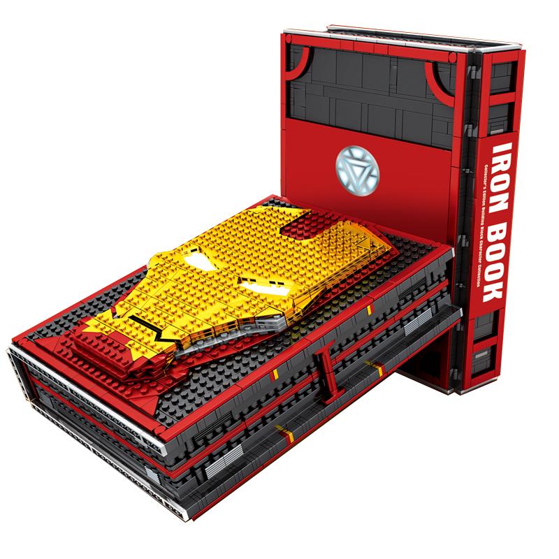 钢铁侠积木书蜘蛛侠积木书纪念十周年收藏版手册益智拼装玩具男孩