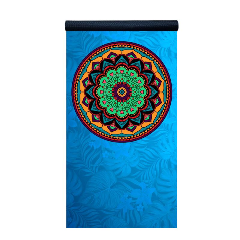 Eylin吸汗防滑瑜伽铺巾无味折叠便携毛巾加宽初学女健身瑜珈垫毯