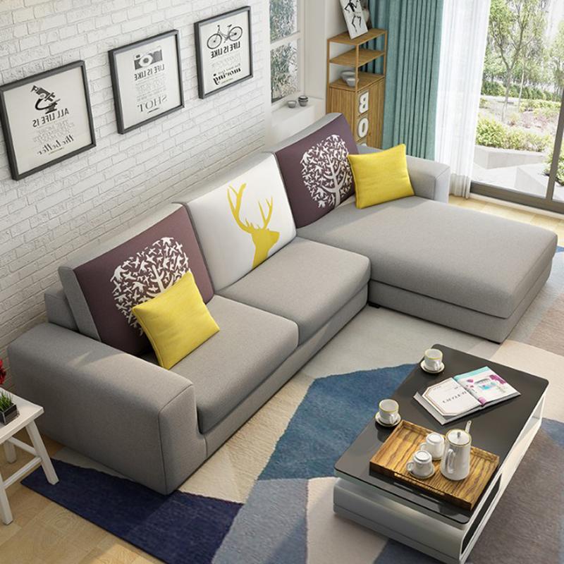 10月19日最新优惠布艺小户型简约现代三人四人位沙发