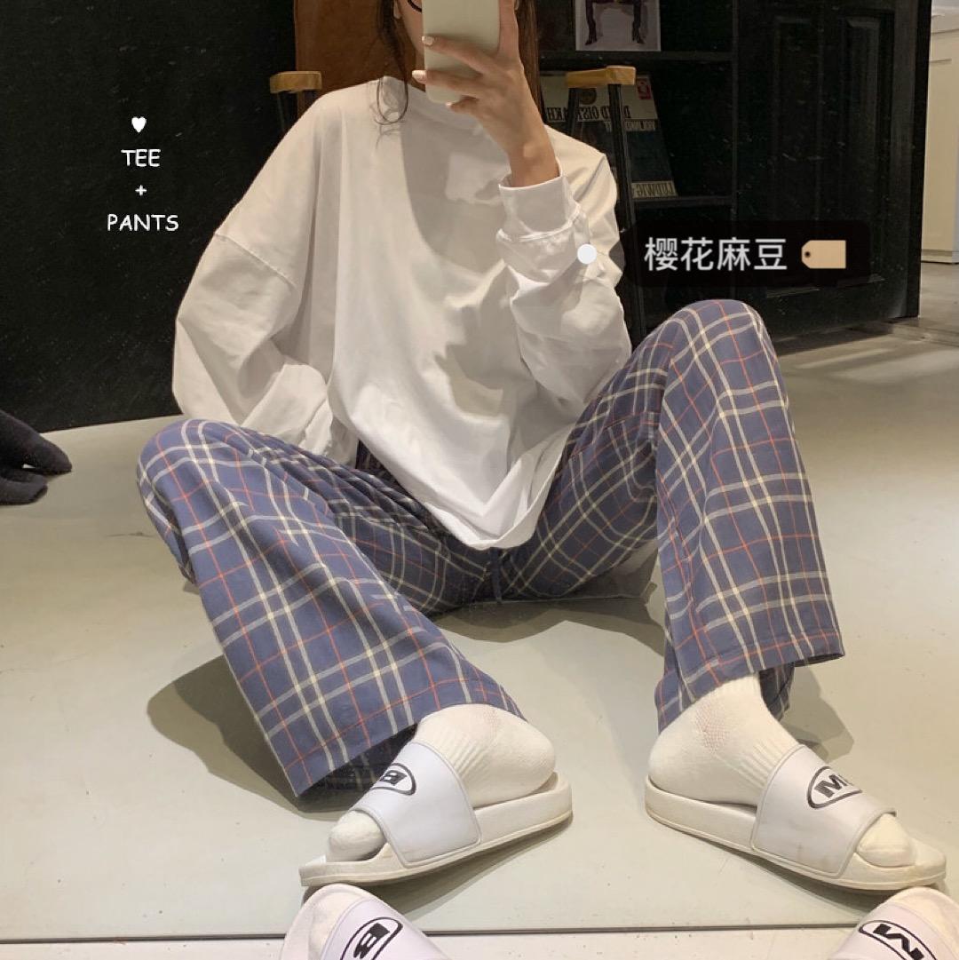 11-09新券樱花麻豆韩风chic鬼马系少女休闲裤