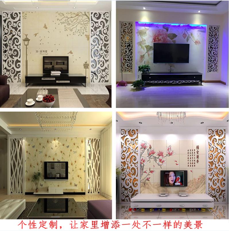 客厅欧式电视背景隔断镂空雕花板屏风花格吊顶花隔通花板定制PVC