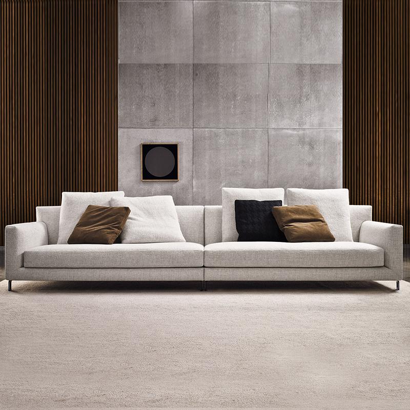 Нордический ткань диван сочетание небольшой квартира съемный современный простой экономического типа гостиная мебель в соответствии ткань диван