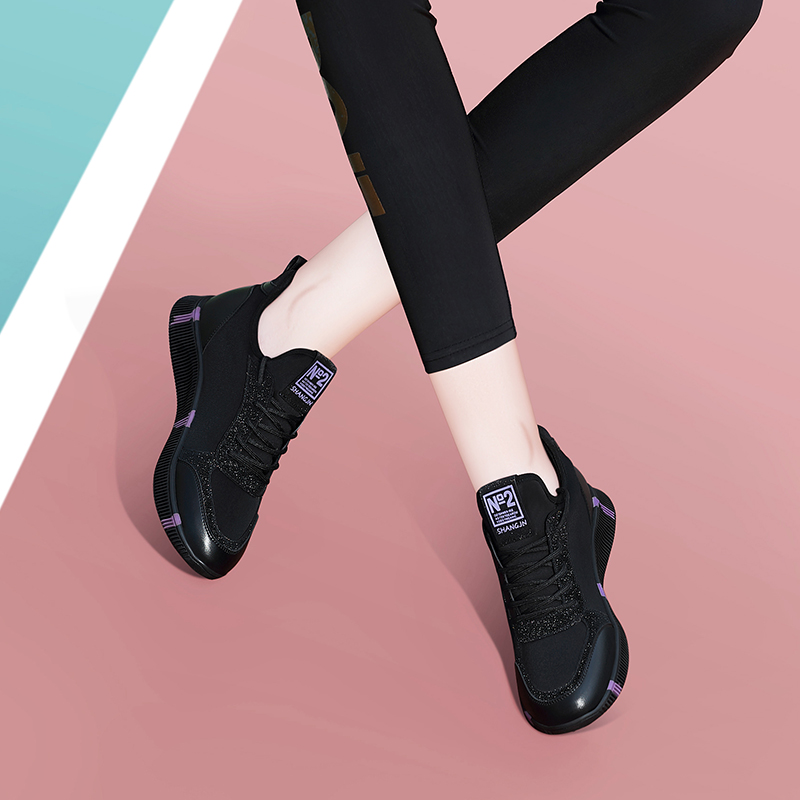 Sports shoes 2019 new womens fashion shoes black light soft soled running shoes autumn and winter womens shoes casual shoes autumn shoes