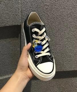 Ботинки,  Европа товары ins превышать пожар дикий тенденция обувь AG студент случайный кружево милый подвески любители черно-белое холст обувь, цена 2740 руб