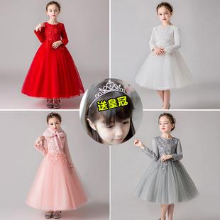 儿童秋装连衣裙蓬蓬纱小女孩公主裙