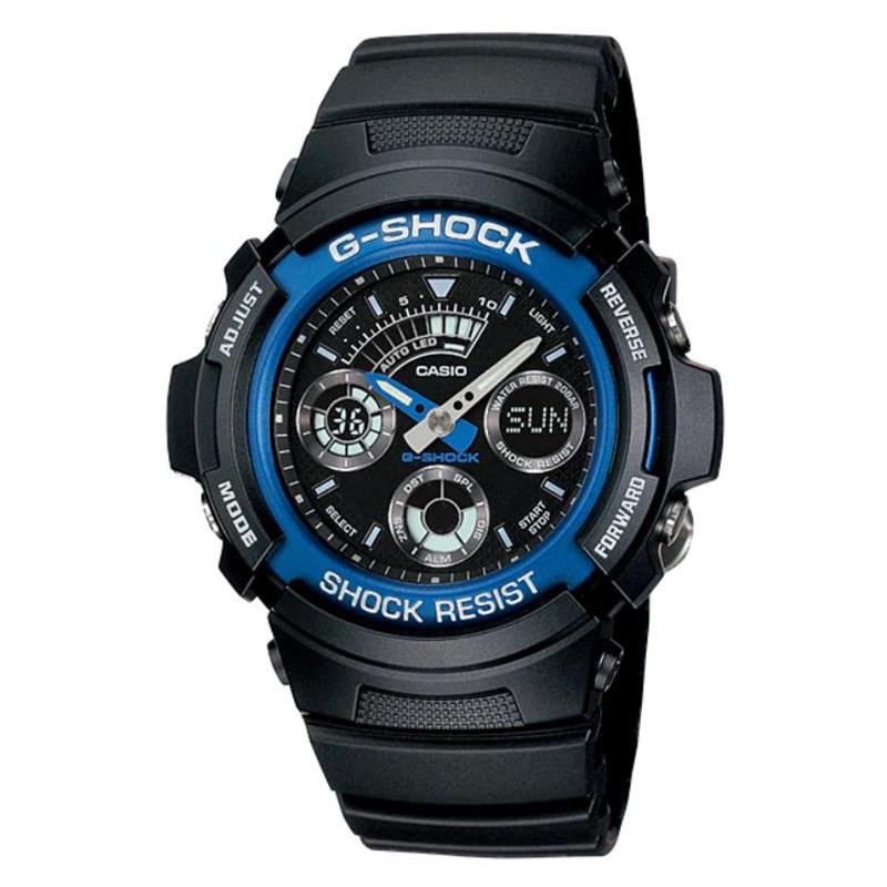 日本直送カシオG-SHOCK日本版ファッション腕時計彼氏プレゼントAW-591-AJFブルー