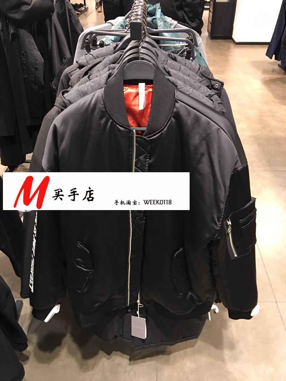 小M买手 女装 袖子字母飞行员夹克外套4803\384\800 4803384