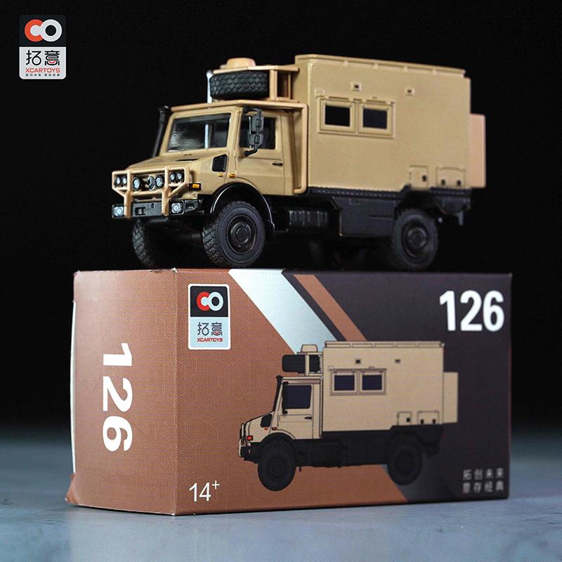 拓意XCARTOYS 1/64成品合金小汽车模型玩具车米黄色乌尼莫克126号