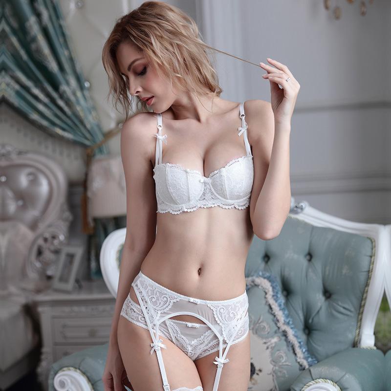 Victoria (Hong Kong) underwear secret vine Jacquard lace 1 / 2 cup thin sexy underwear