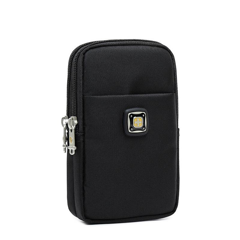 瑞士军刀手机包帆布男士6寸小腰包热销135件买三送一