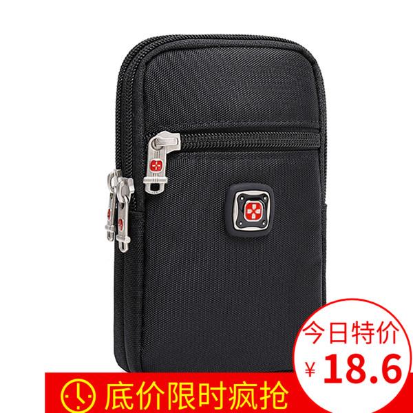 瑞士军刀男士户外手机包穿皮带5.7寸6.5寸腰包男穿腰带休闲小挂包