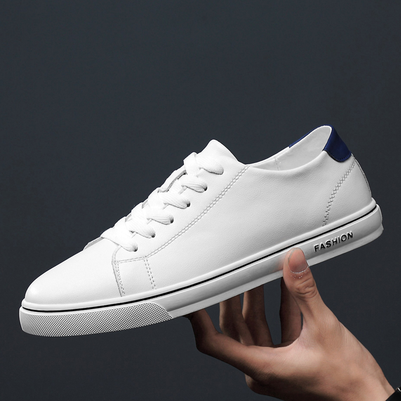 Camel mens shoes spring mens leather Korean version small white shoes fashion casual shoes trend board shoes shoes mens shoes