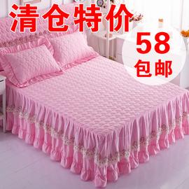 2020春韩版夹棉公主蕾丝床裙特价清仓少女心床罩单件加棉加厚床套