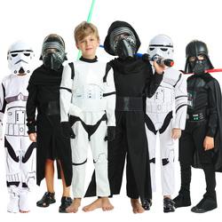 万圣节儿童服装星球大战Cos达斯维达黑武士白兵蕾伊绝地武士衣服