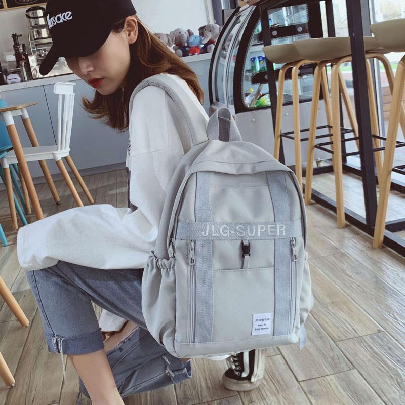古着感少女书包女韩版高中校园大学生电脑包15.6寸森系旅行双肩包