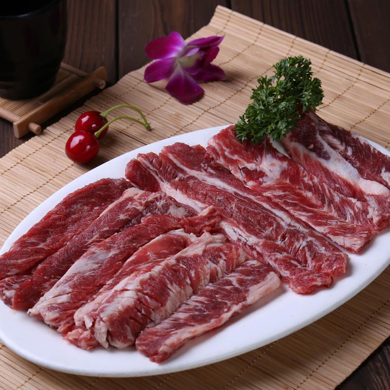 原味牛排骨肉生鲜牛肉韩式烧烤烤肉牛肉食材新鲜生剔骨牛排肉250g