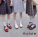 正品 定金 女 升级绵羊泡芙原创Lolita日系花边圆头学生洛丽塔单鞋