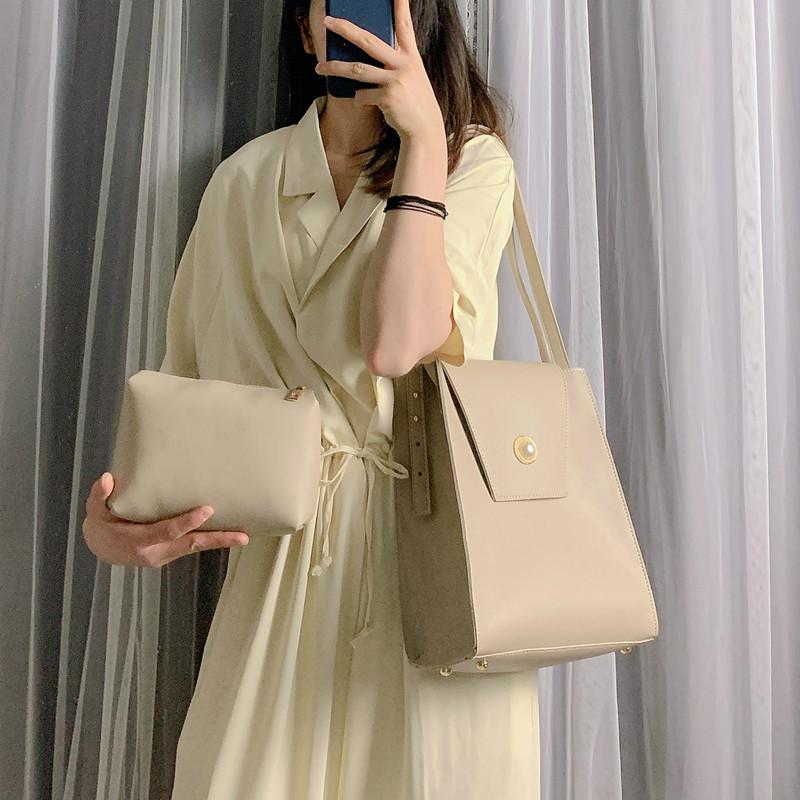 12-01新券2019夏季新款韩版简约质感水桶包包