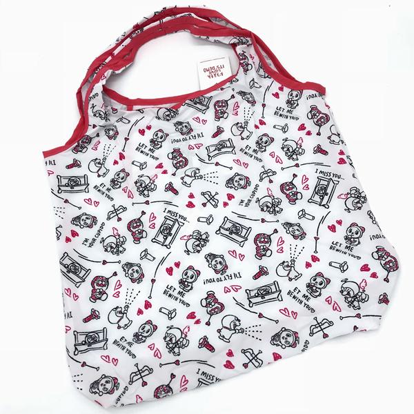 日本正品哆啦A梦轻便耐用折叠收纳单肩包 购物包 环保袋 随身包
