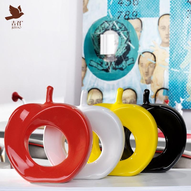 平平安安苹果摆件创意现代简约卧室工艺品家居装饰品陶瓷饰品摆设