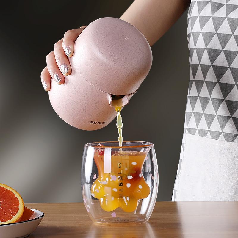 手动榨汁机小型简易便携式橙子柠檬榨汁器挤压器榨果汁家用榨汁杯