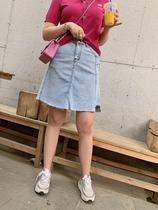 s肉卷大码半身裙宽松显瘦牛仔不规则胖MM打底裙2020夏季新款女装