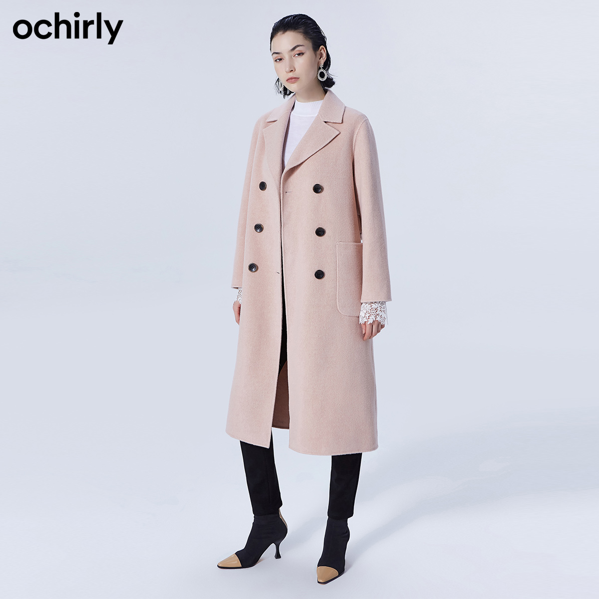 Ochirly Ou Shili wool double faced woolen overcoat for women 1zy4341310