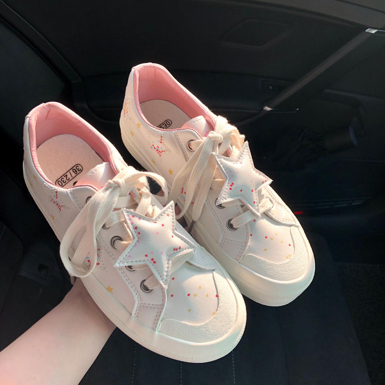 林先参 可爱ulzzang百搭星星板鞋女学生韩版ins潮2020新款小白鞋