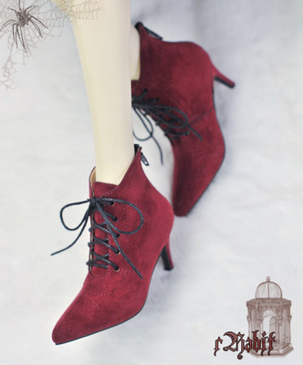 taobao agent bjd baby shoes witch pointed high-heeled boots 17 male popo683 points 4 points women's shoes Coven3