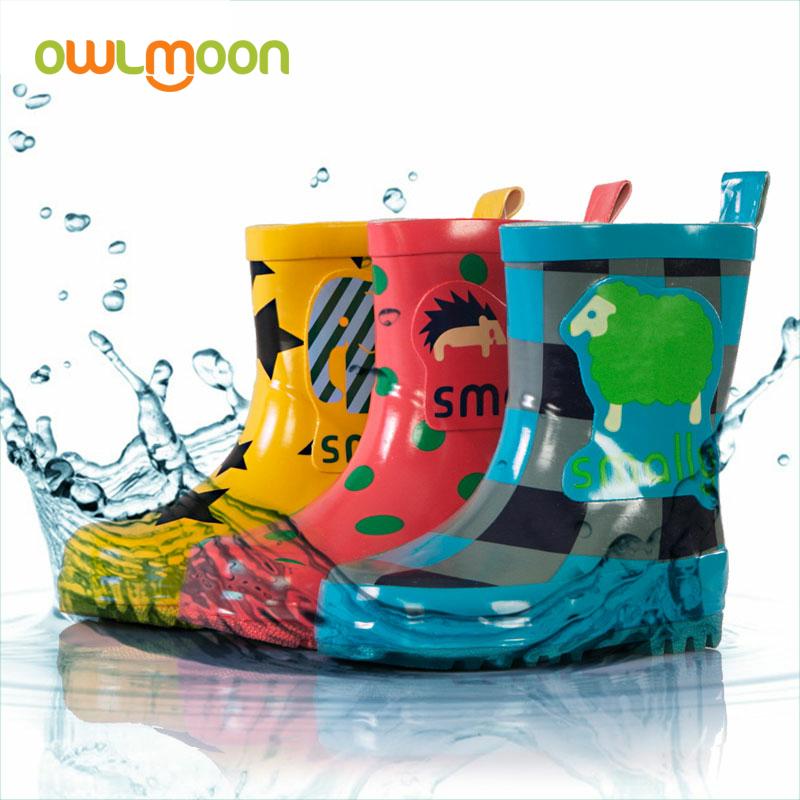 韩版儿童雨鞋可爱防滑男女宝宝雨靴水鞋卡通时尚中筒亲子舒适水靴