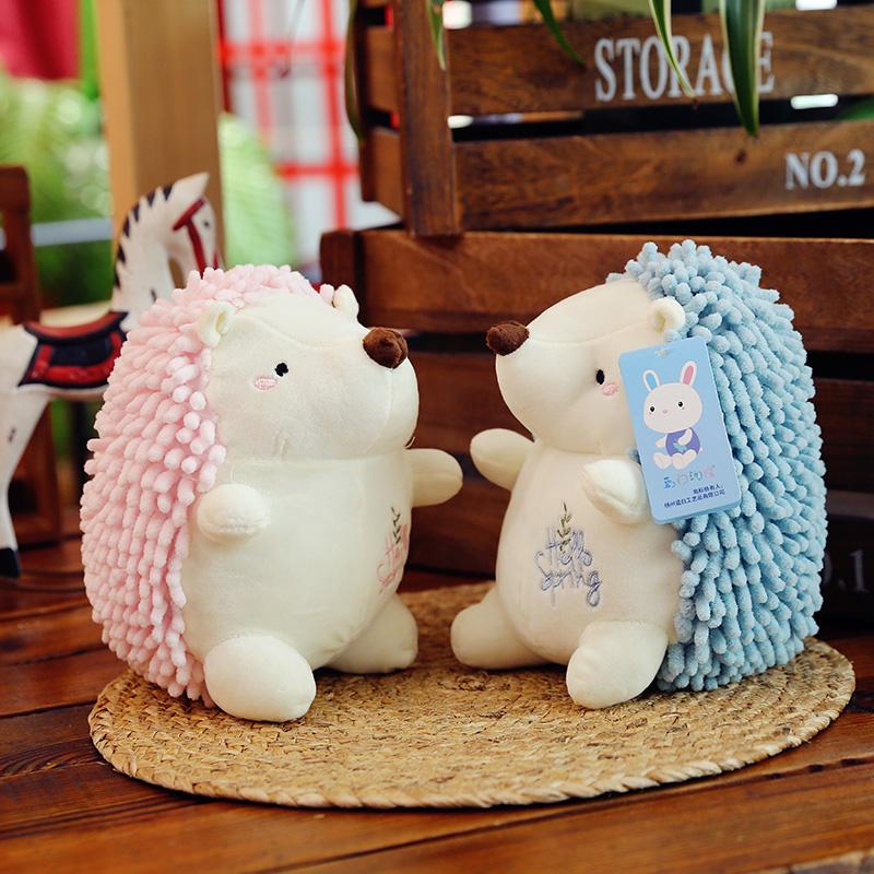 韩国可爱情侣小刺猬毛绒玩具公仔抱枕小号布娃娃超萌玩偶生日礼物限7000张券