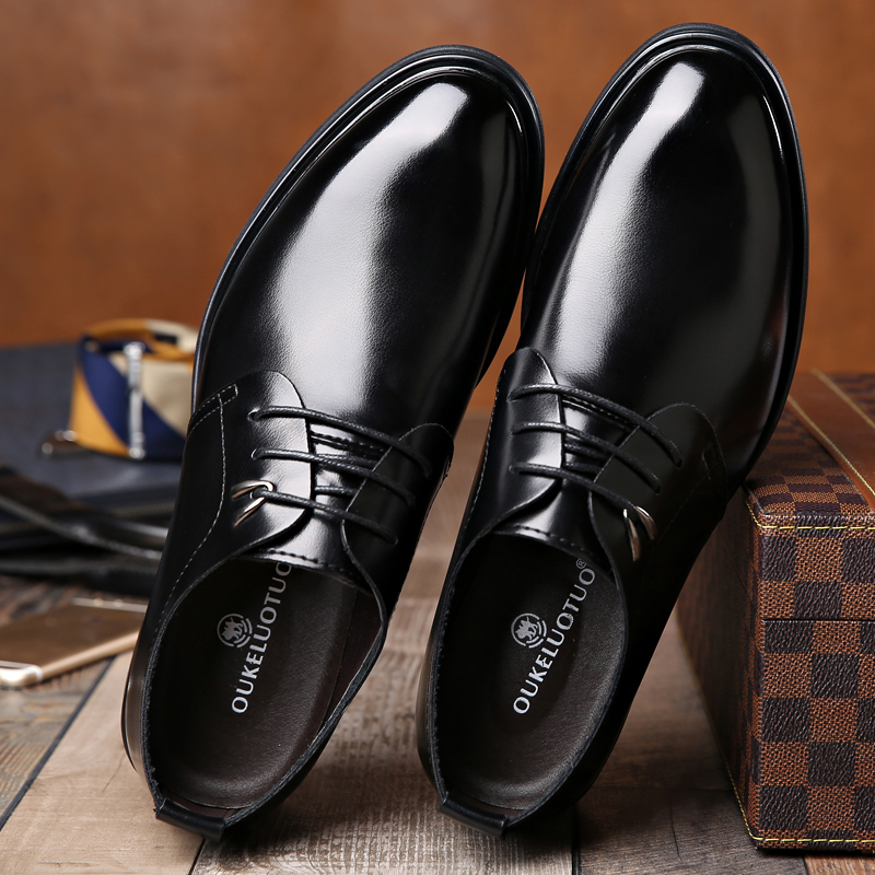 Men's formal leather shoes large men's shoes 45 genuine leather 46 fat and wide work 47 large business casual shoes 48
