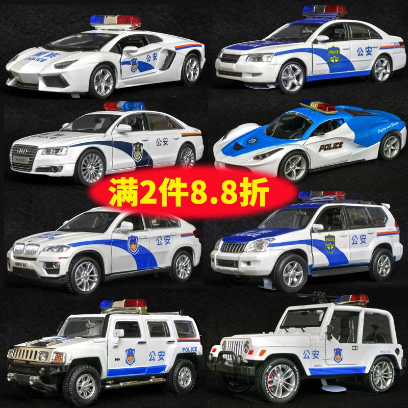 警�合金玩具��和�玩具�男孩汽�模型仿真警察�模型小汽�