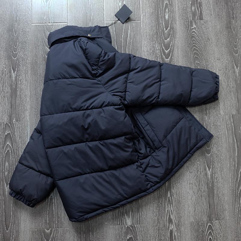 出日本 客供进口面料 发热纤维填充 简约大方 基础面包服 外套