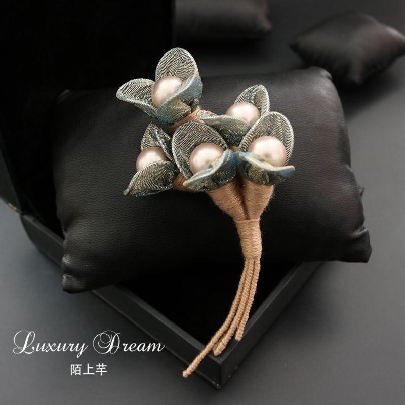 胸针胸花 别针 韩国 奢华 大气花朵 简约大气珍珠 女 开衫配饰品