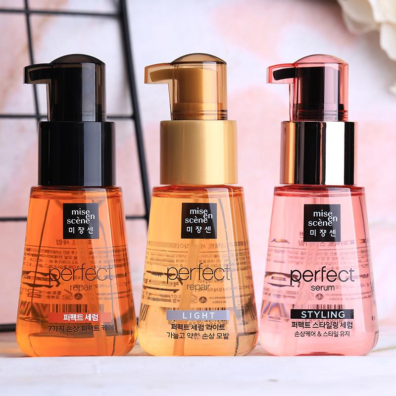 韩国爱茉莉玫瑰护发精油卷发头发发油免洗发膜修复毛躁护发素正品图片