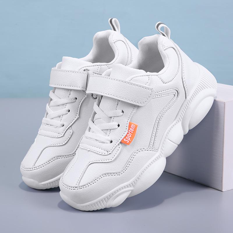 回力童鞋秋冬季男童白色运动鞋儿童跑步鞋女童小熊鞋新款皮面防水11-30新券