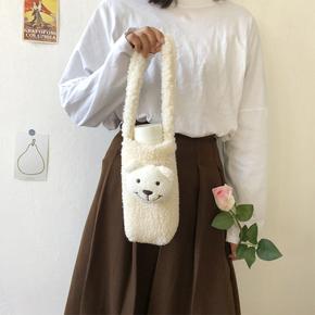 【布依布饶包袋】韩版可爱水杯便携手提袋斜挎包水瓶袋学生手机包