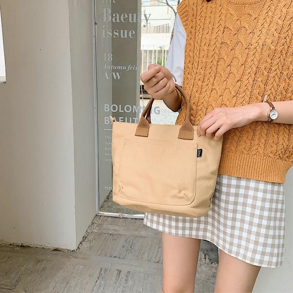 上班小拎包女士2019新款帆布包包