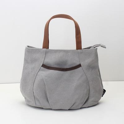 上班包包女士2020新款韩版轻便百搭小拎包手提包手拎小包帆布包