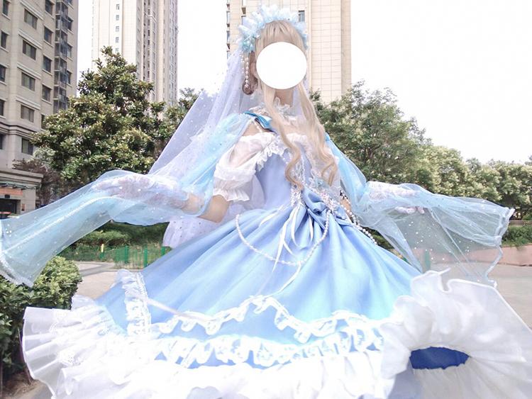 Fairy tale destiny Quartet flower wedding Lolita Gothic jsk sleeveless dress Lolita lace