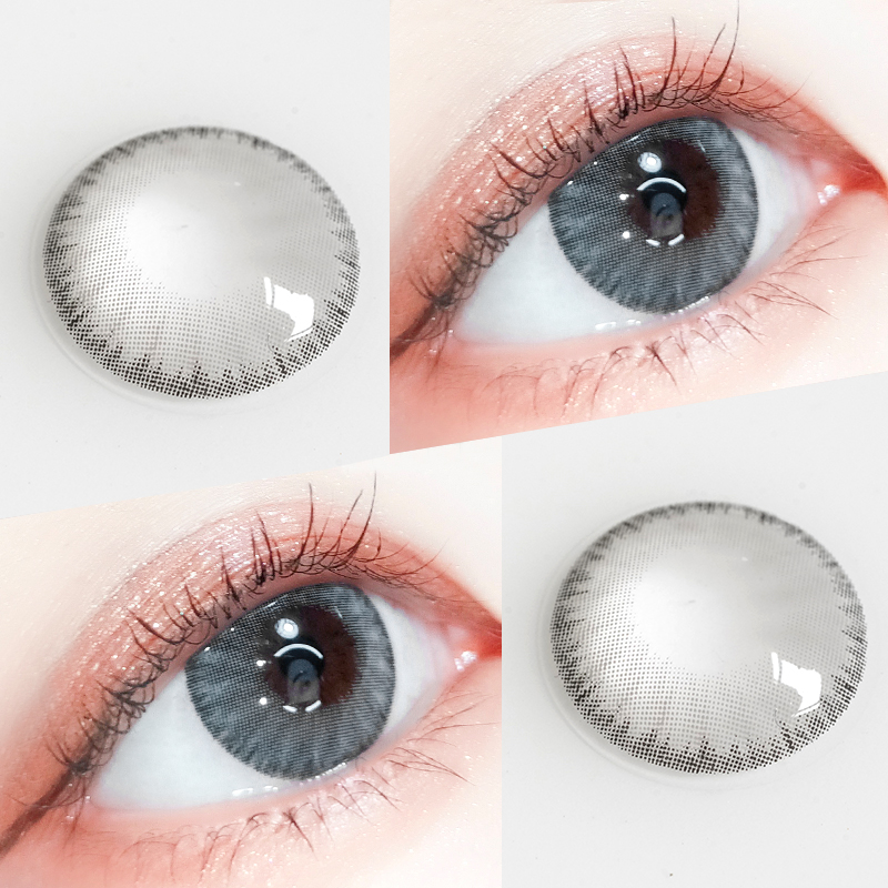 Tina binglu beauty pupil year throw female mixed blood size diameter gray 14.2 European and American Contact myopia lens male TN