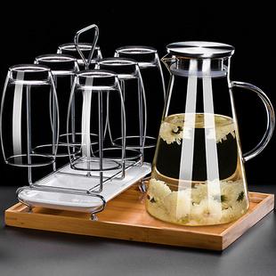 水具套装家用玻璃杯子冷水壶耐高温欧式客厅简约杯具水杯茶具整套品牌