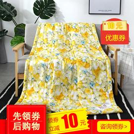 苏香绸绵绸韩香绸人造棉薄被子可水洗舒香绸单人双人空调被夏凉被图片
