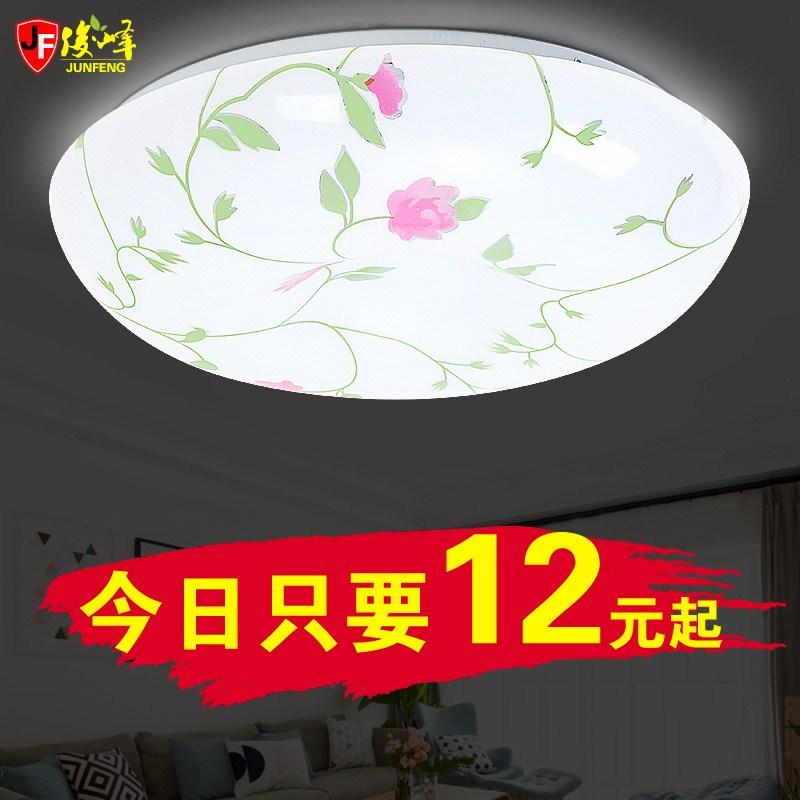 led吸顶灯简约圆形卧室苹果花色阳台厨房过道书房间面包灯具灯饰