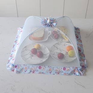 菜罩 家用摺疊防蠅餐桌食物罩防塵罩小號圓形大號蓋菜罩防蟲台罩