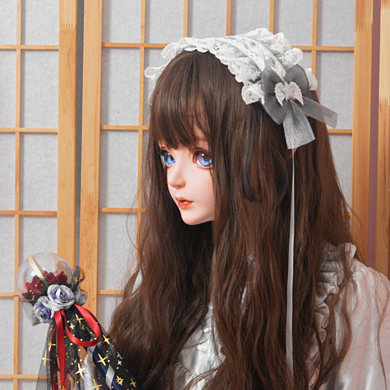 Angel Street star picking Magic Original hand-made small thing KC with Lolita headdress Lolita hair band silver grey