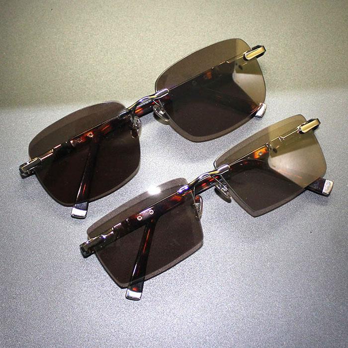 Donghai crystal glasses mens pure natural crystal frameless original Sunglasses genuine cool Sunglasses mens stone glasses